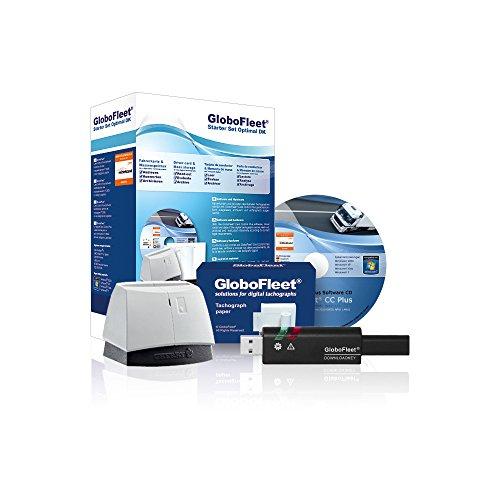 GloboFleet Starter Set Optimal DK für kleinere Unternehmen zum auslesen, auswerten und archivieren der Fahrerkarte, Chipkartenleser und Downloadkey