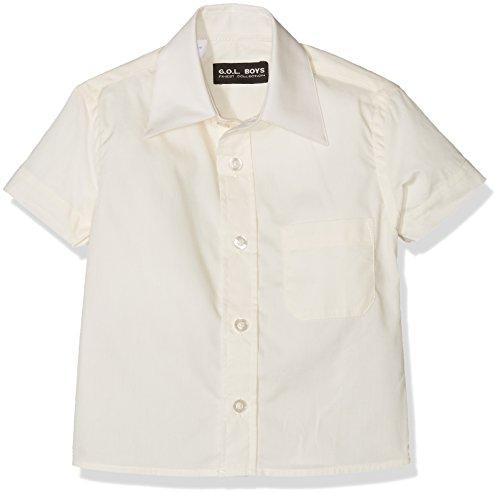 G.O.L. Baby-Jungen Kurzarm-Hemd mit Kentkragen, Elfenbein (Champagner 60), 86