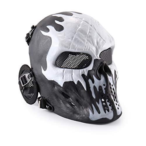 Airsoft-Maske für das ganze Gesicht in Totenkopf-Design für Paintball von Wwman, Wildfire