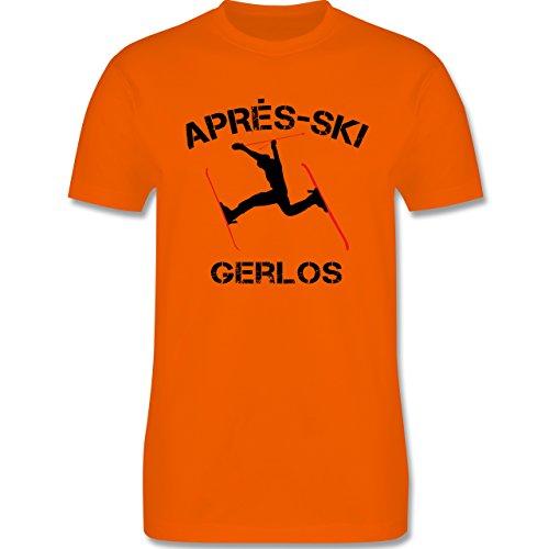 Après Ski - Apres Ski Gerlos - Herren Premium T-Shirt Orange
