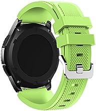 Correas para Samsung Gear S3 Frontier Sannysis Banda de pulsera de silicona deportiva color verde