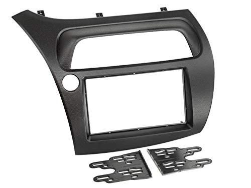 Doppel- DIN Radioblende Blende schwarz 2-DIN Radiohalterung für Honda Civic VIII (FK1/FK2/FK3) 01/2006-02/2012