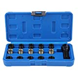Spark Plug Repair Tool, 16 Stücke 14mm x 1,25 Zündkerze Gewinde Repair Tool Kit M16 Tap W/Tragbarer Fall