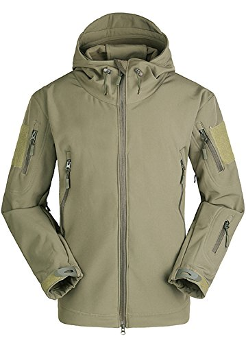 Herren Tactical Jacken Outdoorjacke Wasserdicht Fleece Hoodie Jacke Winter Warm Militär Army Jagd