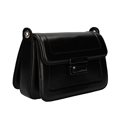 Twin Set AS7PTQ Borsa a tracolla Donna Nero Abrasivo