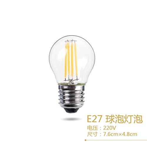 Edison velas led trasera desplegable globo Economizador de energía haciendo retro tungsten E14e27 tornillo candelabros dedicada ,4,LED Bola haciendo E27, blanco