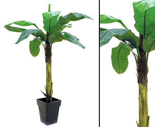 Bananenbaum, Deko Pflanze mit 9 Blättern, Höhe 220cm – künstlicher Bananen Baum Kunstbäume Dekobäume