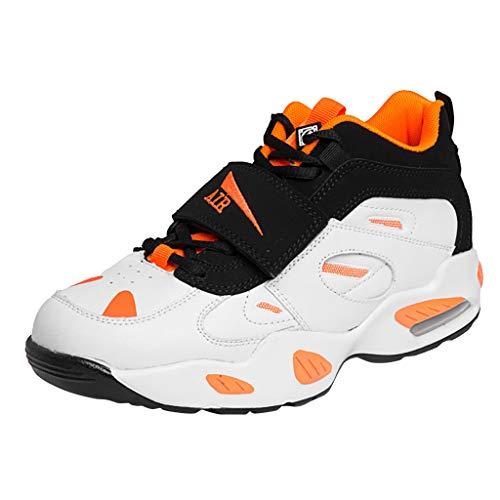 Xmiral Sneakers Leggere da Uomo - Scarpe da Corsa con Cuscino d'Aria in Traspirante A Disegno Speciale Tongue Scarpe da Nordic Walking Uomo 42 Arancia