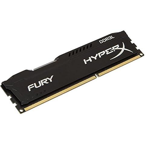 HyperX Fury -  Memoria RAM de 8 GB DDR3L (1600 MHz, CL10, DIMM 240 pin, 1.35 V)