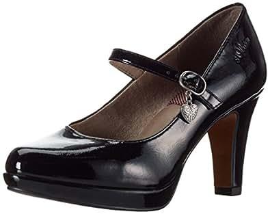 s.Oliver Women's's 24400 Closed-Toe Pumps Black Patent 18, 3.5 UK