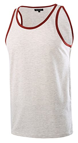 HETHCODE Herren Classic Basic Athletic Jersey Tank Top Casual T Shirts - - Groß - Athletic Ärmelloses Jersey