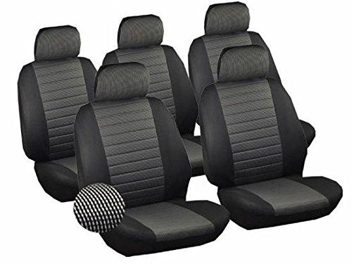 Universal Sitzbezüge für Auto Schonbezüge Sitzbezug Schonbezug Set Sitzschoner Einzelsitzbezug schwarz-grau 7231-5