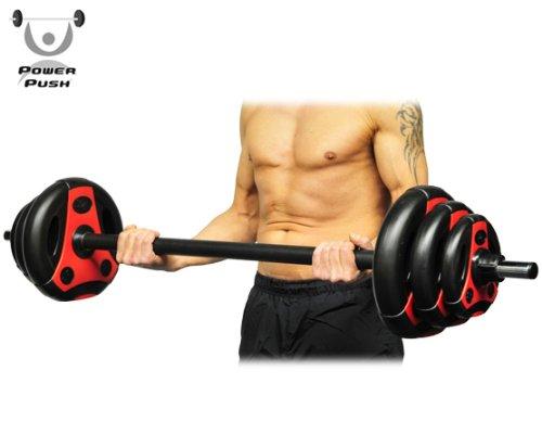K-Grip. Aerobic Langhantel-Set Pump your muscle Hantel / 1 x Langhantelstange inkl. ABS-Klappverschlüssen, 2x1.25, 2x2.5 und 2x5 Kg Hantelscheiben