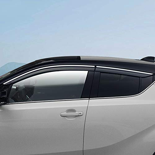 HDCF Window Shield Abdeckung für CHR 2018 Fenster Air Vent Visier Sonnenschutz Markisen Schutz Schutzgitter für C-HR 17-19 (Silber)
