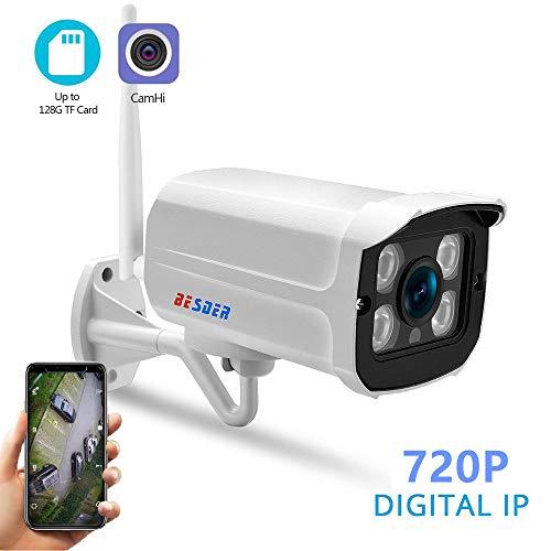 MHCYKJ WiFi IP Kamera Outdoor Street Wireless Wired Monitor Bullet Kamera wasserdicht,720P B/w Wired Video