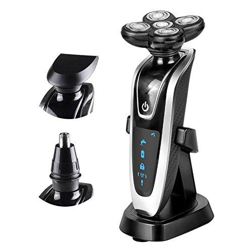 EléCtrico Multi-Depilador Triple-Afeitadora Nasal Hair Trimmer Impermeable Rotatorio Inteligente Recargable Razor