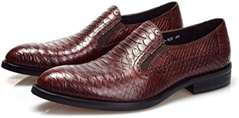 GRRONG Zapatos De Cuero De Los Hombres Señaló Negocio De Banquetes Vestimenta Formal