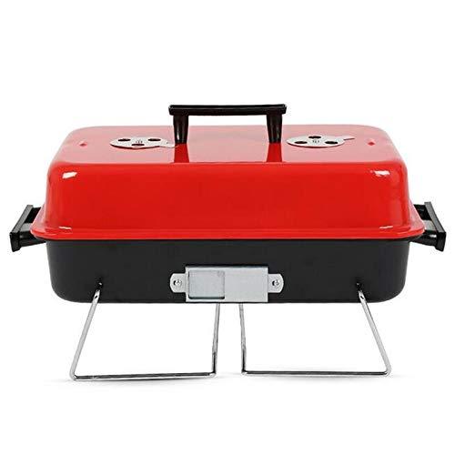 Tragbaren Holzkohle-grill Küche (WSSZZ319 Tragbare BBQ Kochen Grill Metall Eisen Holzkohle Edelstahl Outdoor Camping Grill Werkzeuge Küche BBQ Zubehör Kochgeschirr)