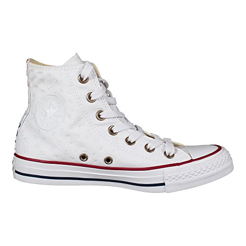 1U452 Converse CT HI felpa grigia White Casino Red