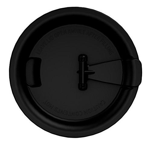Ornamin Coffee to go Deckel Ø 95mm schwarz, auslaufsicherer Trinkdeckel für Ornamin Kaffeepott und...