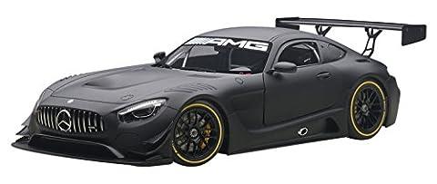 Mercedes AMG GT3, mat- noir, Plain Body Version, 2015, voiture miniature, Miniature déjà montée, AutoArt