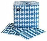 Serviette weiss 1 lagig 33x33cm 100er Packung Bayerische Raute