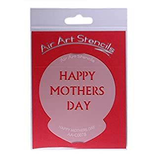 Happy Mothers Day Cupcake Stencil - Reusable Flexible Food Grade Plastic Stencil for Cake and Craft Design, Airbrushing and more