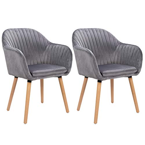 WOLTU Esszimmerstühle BH95dgr-2 2er Set Küchenstuhl Wohnzimmerstuhl Polsterstuhl Design
