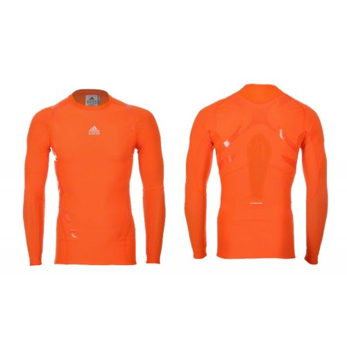 Adidas Techfit Powerweb Shirt XL langarm Shirt, orange (Adidas Orange T-shirt Langarm)