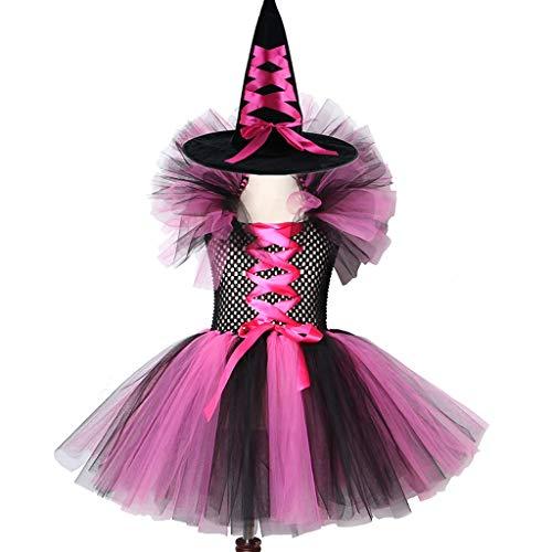 Westen Des Kinder Böse Hexe Kostüm - HS-ZM-06 Böse Königin Mädchen Tutu Kleid Mit Hörnern Halloween Cosplay Hexe Kostüm Für Mädchen Kinder Party Kleid Mit Hut Halloween Kinderkleidung,6~7