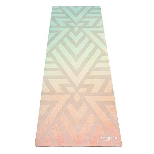 o Yogamatte 3,5mm | rutschfest, Matte/Handtuch, Guter Halt bei viel Schweiß, Naturkautschuk | mit Tragegurt (Popsicle Maze) ()