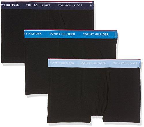 Tommy Hilfiger Herren Shorts, 3er Pack Mehrfarbig (Black Body - Vista Blue/Daphne/Peaco 908)