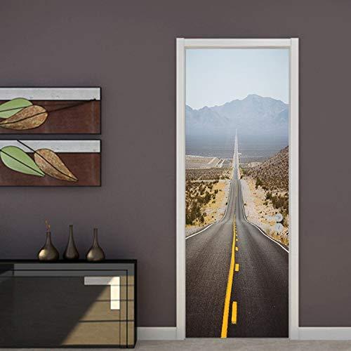 HOLnhyYY Kreative DIY Wandbild Räumliche Expansion Autobahn Tür Tapete Wandaufkleber Wohnzimmer Schlafzimmer Studie PVC Tapeten Wohnkultur 3D