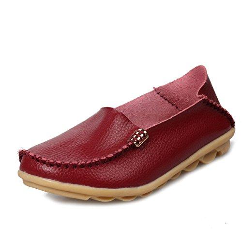 Chaussures à Lacets Bas En Haut Occasionnels Tendon à La Fin WineRed