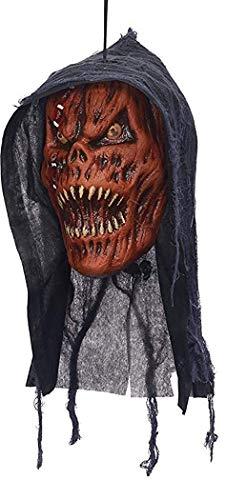 Ausgefallenes Halloween Dekorativ Gruselig Screamer Dekoration Party Zombie Hängenden Kopf - Kürbis Sensenmann, One size