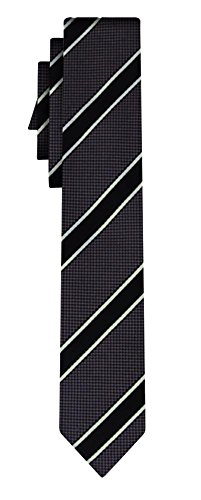 BOSS Tie Stripe in Black One Size