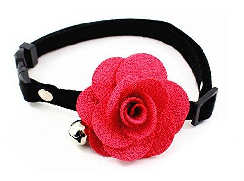 Dogs Kingdom verstellbar Cozy Fliege Hund Katze Halsband mit Glöckchen Kitty handgefertigt Blume ()