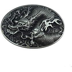 Choppershop - Hebilla de Metal para cinturón, diseño de dragón