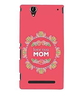 PrintVisa Love You Mom 3D Hard Polycarbonate Designer Back Case Cover for Sony Xperia T2 Ultra :: Sony Xperia T2 Ultra Dual SIM D5322 :: Sony Xperia T2 Ultra XM50h
