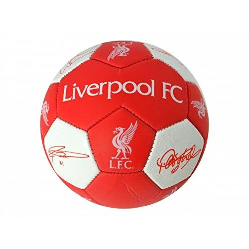 offizieller Liverpool FC Nuskin Signature Fußball (Größe 3) (Rot/Weiß)