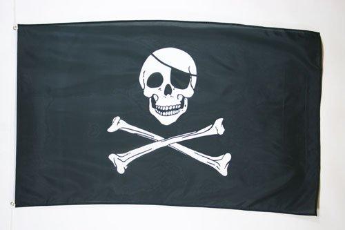 AZ FLAG Bandera Pirata Cabeza DE Muerte 150x90cm - Bandera con...