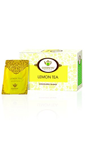 Goodwyn Lemon Tea, Refreshing and Energizing, 20 Tea Bags (Free Shipping on All orders Above Rs. 499.00) (Get Assam Tea Free)  available at amazon for Rs.135