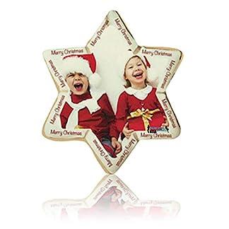 Decoracion Navidad Personalizado Estampado Foto Navidad en Fieltro Bola Estrella Puntera