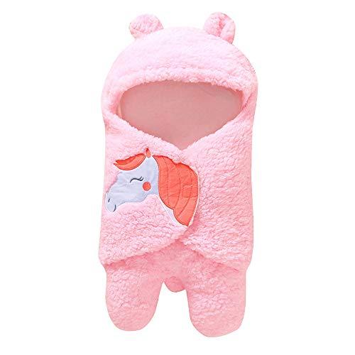 Neugeborenes Baby Wickeln Swaddle Schlafsäcke Wrap Decke Wickel Einschlagdecke (Rosa Rot)