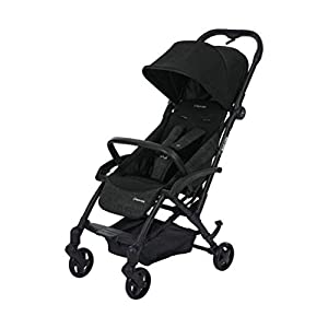 Maxi Cosi Laika Baby Pushchair, Ultra Compact and Lightweight Stroller from Birth, Easy Fold, 0 Months-3.5 Years, 0-15 kg, Nomad Black  *LIGHTWEIGHT - Travel-friendly lightweight design is perfect for traveling and day trips. *EXTRA SPACE - Multi-position tilting seat and rotating calf support can be easily adjusted to ensure baby comfort; large storage basket and two integrated seat back pockets provide extra space for your baby. *RECLINING SEAT -- Reclining seat offers 5-point safety restraint system and accommodates child to 50KG per seat. 11