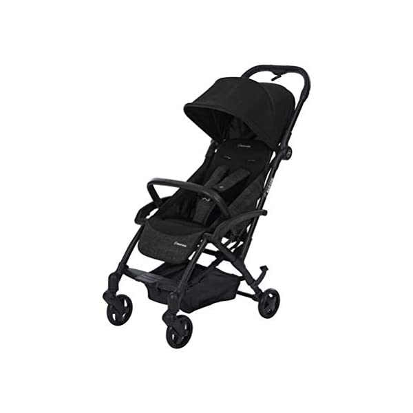 Maxi Cosi Laika Baby Pushchair, Ultra Compact and Lightweight Stroller from Birth, Easy Fold, 0 Months-3.5 Years, 0-15 kg, Nomad Black Maxi-Cosi Ultra-compact one-hand fold - quick to fold with one hand and easy to carry with the shoulder strap Super lightweight and compact - light and compact stroller for effortless walking and carrying Extra-padded seat  - the most comfortable ultra-compact stroller with a large, high seat to cushion baby, and a soft cocooning carrycot 1