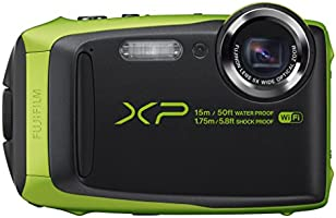 Fujifilm FinePix XP90 Fotocamera Digitale da 16 Megapixel, Sensore CMOS, Zoom 5x, Impermeabile 15 Metri, Stabilizzatore Meccanico, Batteria al Litio, Verde