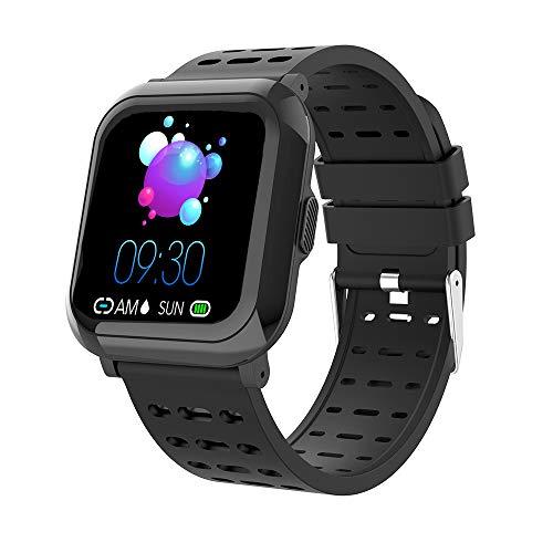 Sundaymot Smartwatch mit Pulsmesser, Fitness Tracker Armband Wasserdicht IP68 GPS Sportuhr Armband Blutdruck Pulsuhren Bluetooth Schrittzähler Herren Damen Kompatibel für IOS Android