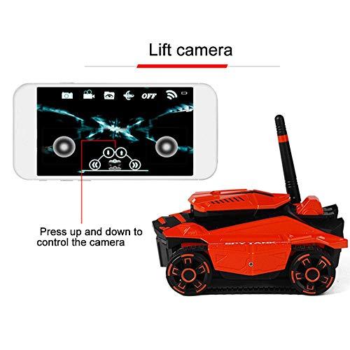 ATTOP YD-211 RC Panzer mit HD-Kamera Wifi FPV 0.3MP Kamera App Ferngesteuerte Robotersteuerung Panzer RC Spielzeugtelefon