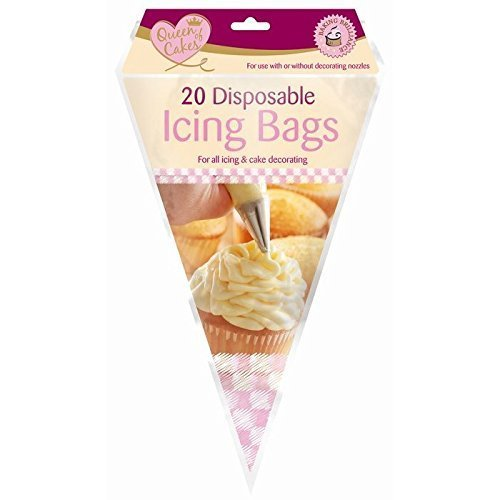 20 x quilty disposible piping icing bags for all icing and cake dacorating use with or without dacorating nozzles